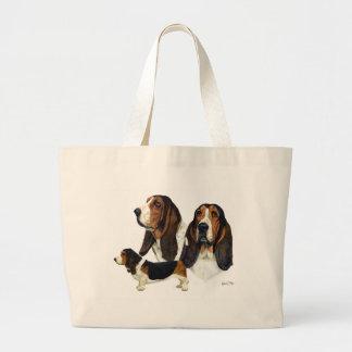 Basset Hound Canvas Bags