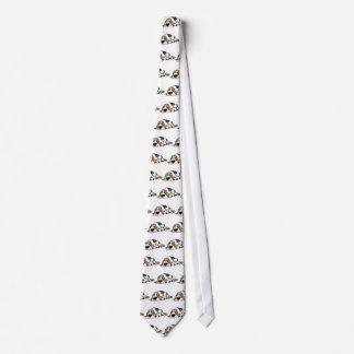 Basset Hound cartoon dog Neck Tie