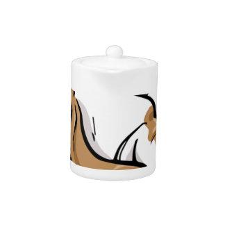 Basset Hound cartoon dog Teapot