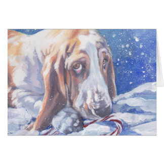 Basset Hound Christmas Card