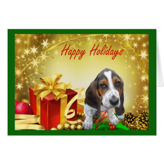 Basset Hound Christmas Card Gifts