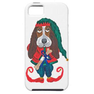 Basset Hound Christmas Elf iPhone 5 Cover