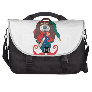 Basset Hound Christmas Elf Laptop Commuter Bag