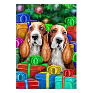 Basset Hound Christmas Flat Cards Business Card Templates