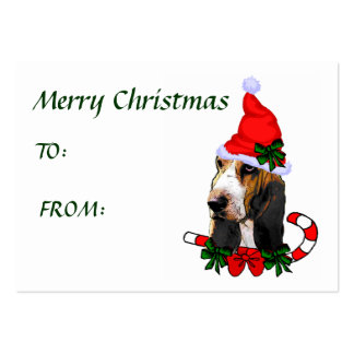 Basset Hound Christmas Gift Name Tags Business Card Template