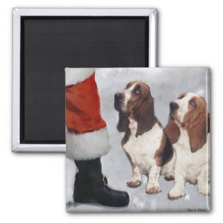 Basset Hound Christmas Gifts Magnet
