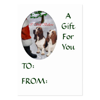 Basset Hound Christmas Gifts Name Tags Business Card