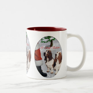 Basset Hound Christmas Gifts Two-Tone Coffee Mug
