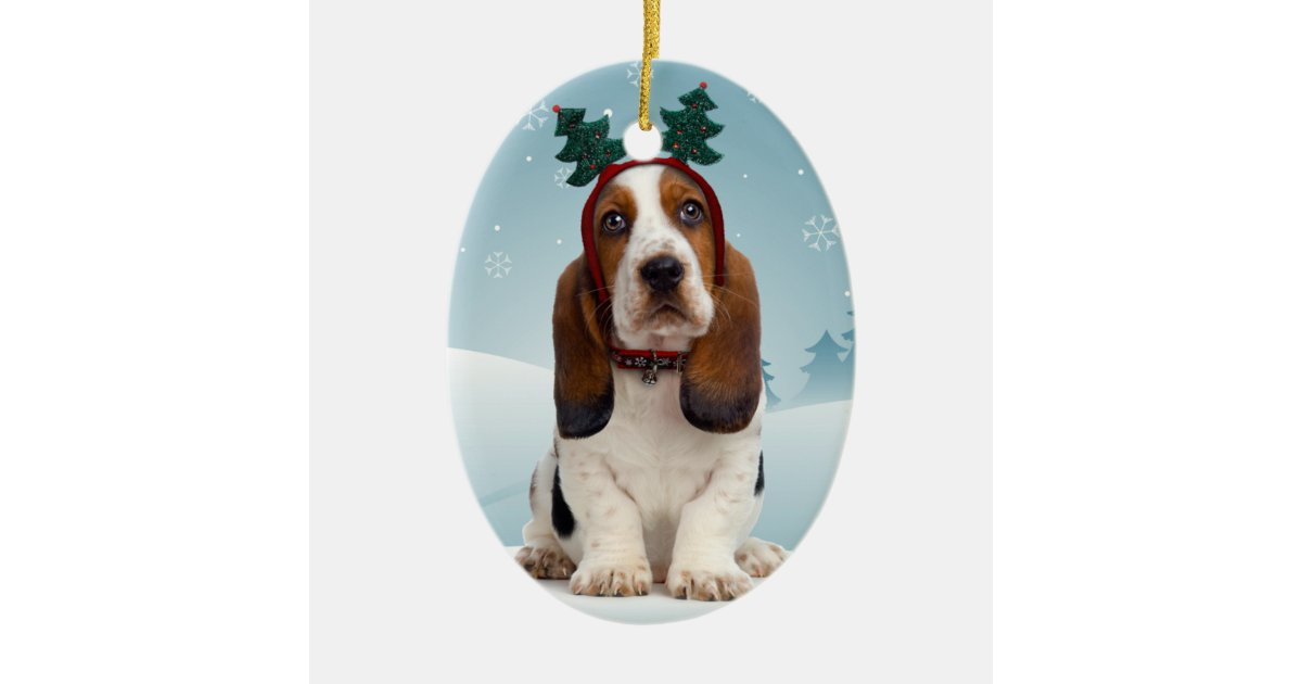 - Basset Hound Christmas Ornament Zazzle.com
