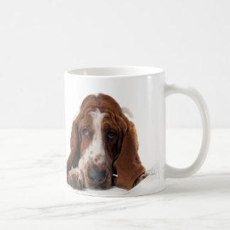 Basset Hound Classic White Coffee Mug