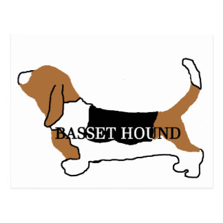 Basset Hound color name silhouette Postcard