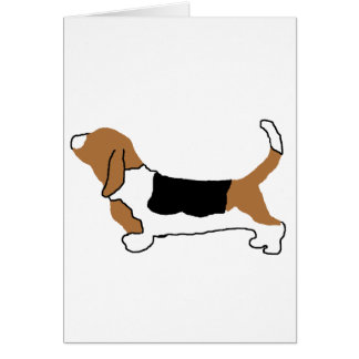 Basset Hound color silhouette Card