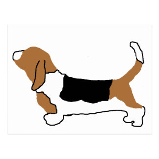 Basset Hound color silhouette Postcard
