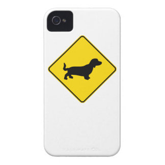 Basset Hound Crossing iPhone 4 Case
