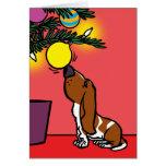 BASSET hound CURIOSITY Card