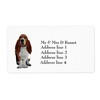 Basset Hound custom personalized address labels