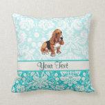 Basset Hound; Cute Throw Pillows