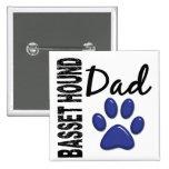 Basset Hound Dad 2 Button