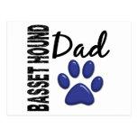 Basset Hound Dad 2 Postcards