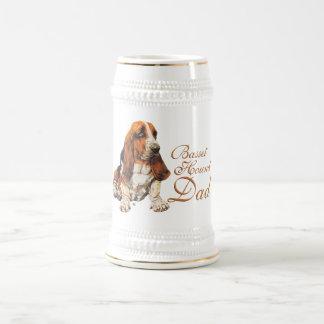 Basset Hound Dad Beer Stein