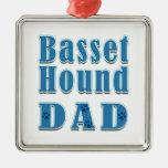 Basset Hound Dad Christmas Tree Ornaments