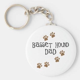 Basset Hound Dad Keychains