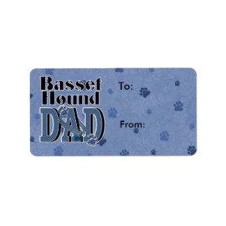 Basset Hound DAD Label