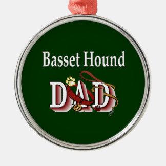 Basset Hound Dad Metal Ornament