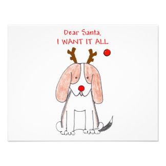 Basset Hound Dear Santa Invites
