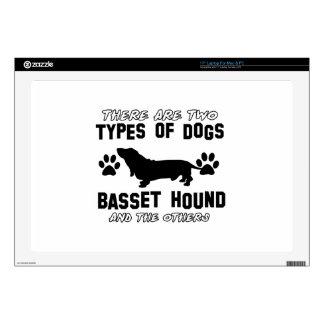 """Basset Hound designs 17"""" Laptop Decal"""