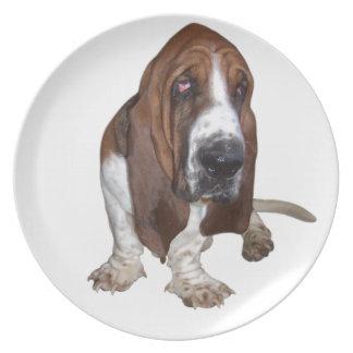 Basset Hound Dinner Plate