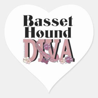 Basset Hound DIVA Heart Sticker