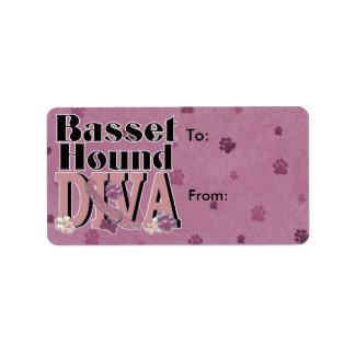 Basset Hound DIVA Label