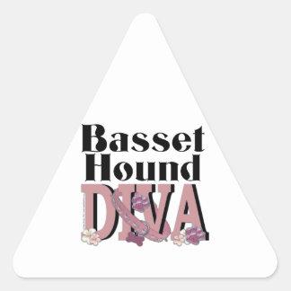 Basset Hound DIVA Triangle Sticker