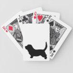 Basset Hound dog beautiful black silhouette, gift Card Deck