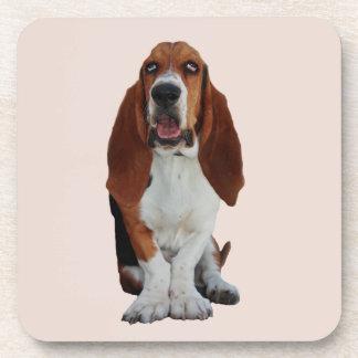 Basset Hound dog beautiful photo coaster, gift Beverage Coaster