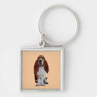 Basset Hound dog beautiful photo keychain