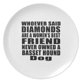 BASSET HOUND DOG BEST FRIEND DESIGNS MELAMINE PLATE