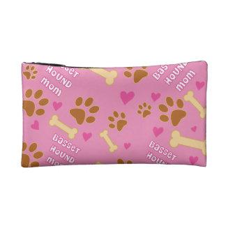 Basset Hound Dog Breed Mom Gift Idea Cosmetic Bag