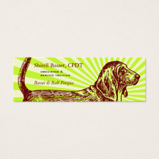 Basset Hound Dog Burst Mini Business Card