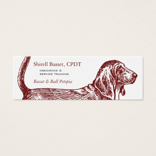 Basset Hound Dog Business Mini Business Card