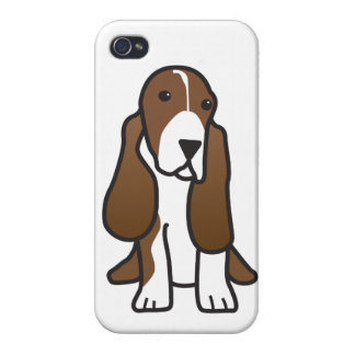 Basset Hound Dog Cartoon iPhone 4 Covers