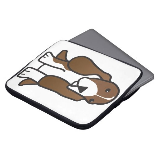 Basset Hound Dog Cartoon Laptop Sleeve