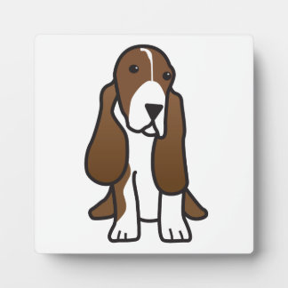 Basset Hound Dog Cartoon Plaque