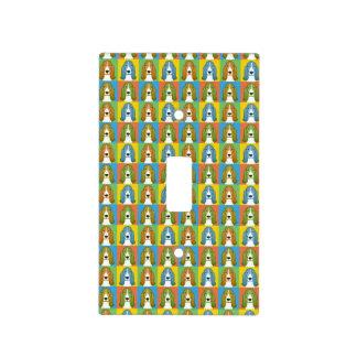 Basset Hound Dog Cartoon Pop-Art Light Switch Cover