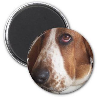 Basset Hound Dog Circular Magnet