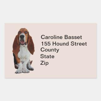 Basset Hound dog custom address stickers