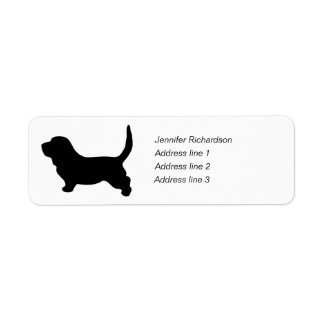 Basset Hound dog custom return address labels