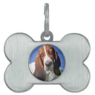 Basset Hound Dog Design Pet Tags