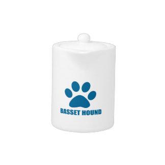 BASSET HOUND DOG DESIGNS TEAPOT